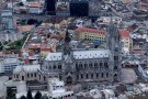 REUTERS/Guillermo Granja - An aerial view shows Quito, Ecuador's Basilica church, February 21, 2012.